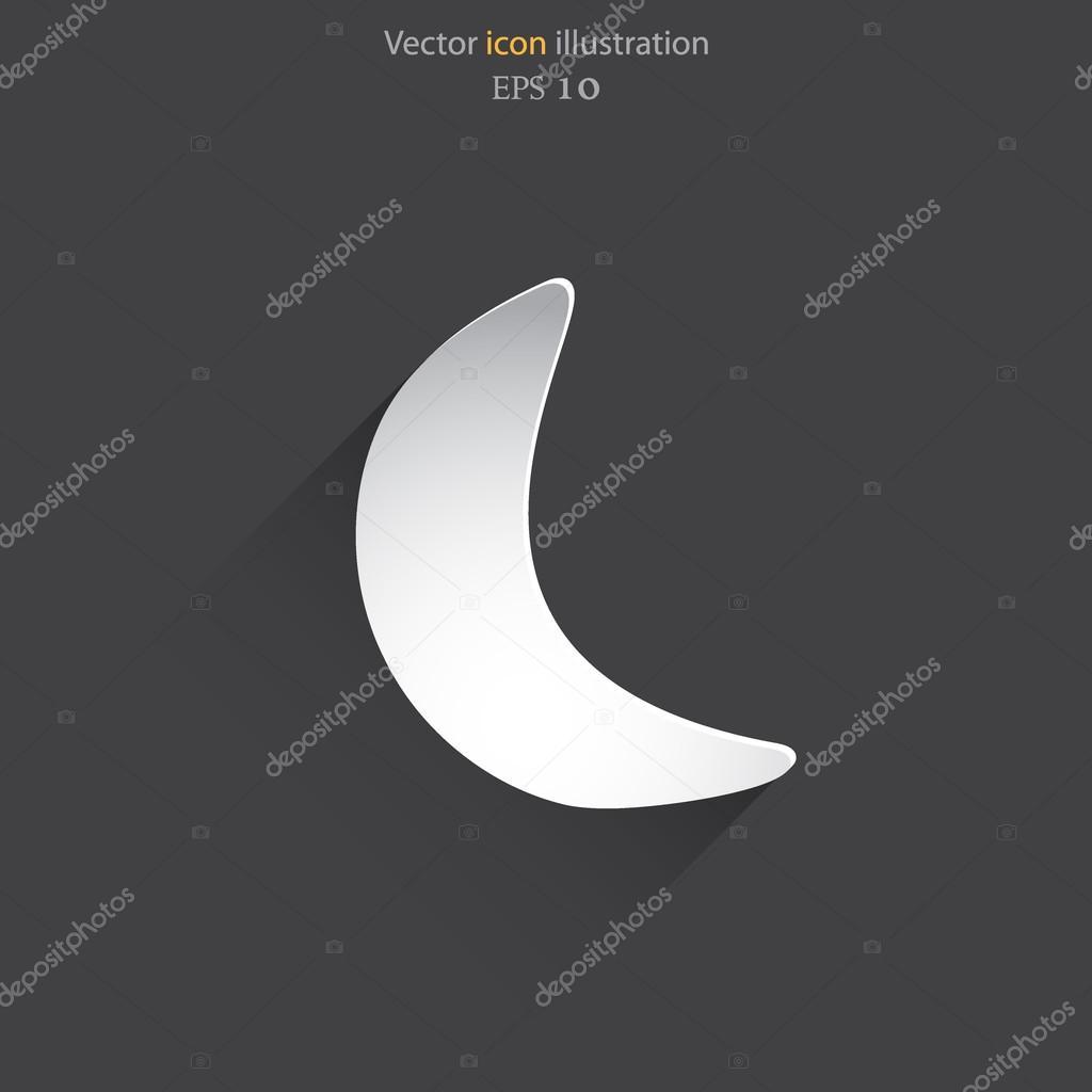 Vector half moon web flat icon.