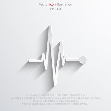 Vector pulse icon. Heart beat, cardiogram.