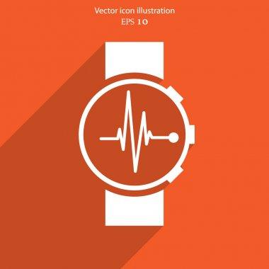 Vector medical watch web icon. Eps 10. stock vector