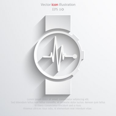 Vector medical watch web icon.