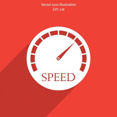 Vector speedometer web icon.