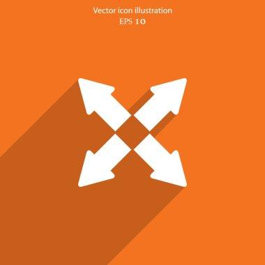 Vector arrow flat icon illustration.