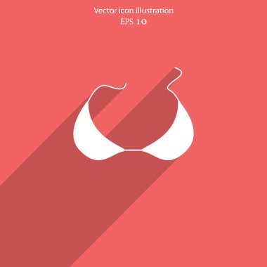 Vector bra icon illustration.