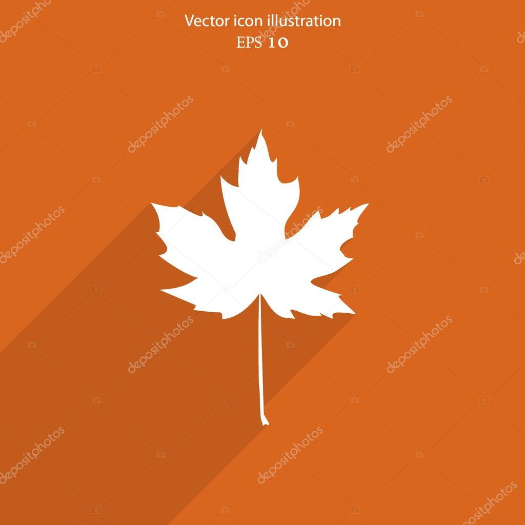 Vector maple leaf flat web icon.