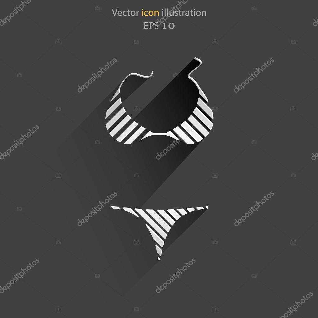 Vector swimsuit icon illustration.