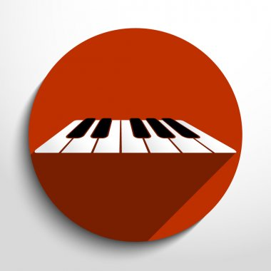 Vector piano keys web icon.