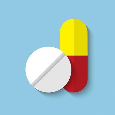 medical drugs web flat icon