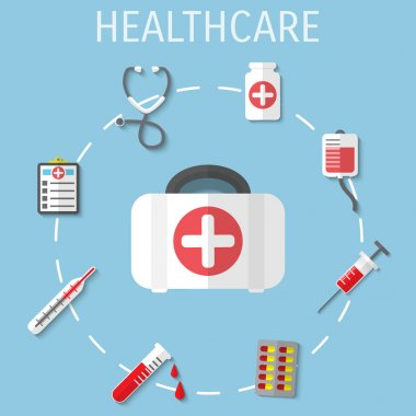 Vector healthcare medical flat background. Eps 10. clip art vector