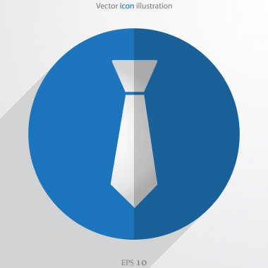Vector necktie web flat icon
