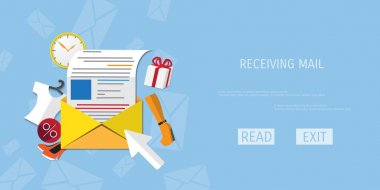Vector receive mail web icon.