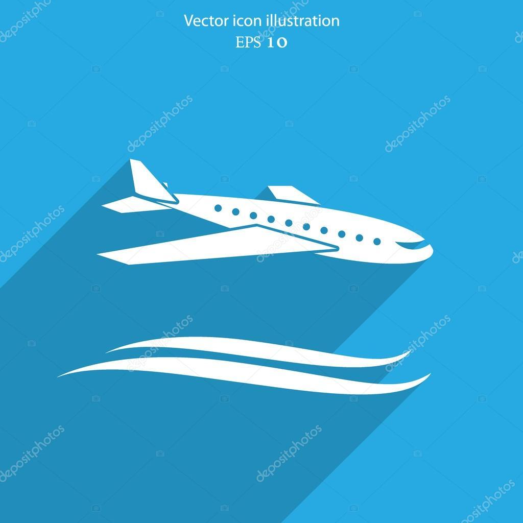 Vector Reizen Vliegtuig Pictogram Stockvector Megastorm 80335108