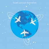 World travel concept illustration.