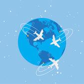 World travel koncepció illusztráció