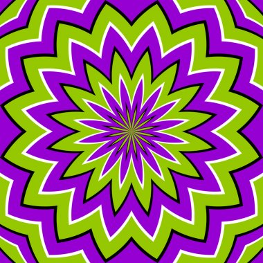 Abstract green geometric background (optical expansion illusion)