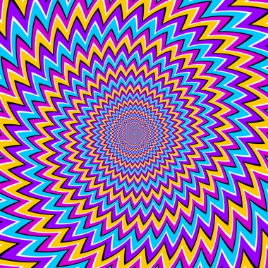Colorful spin illusion