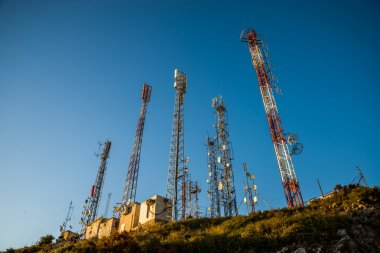 Communication antennas.