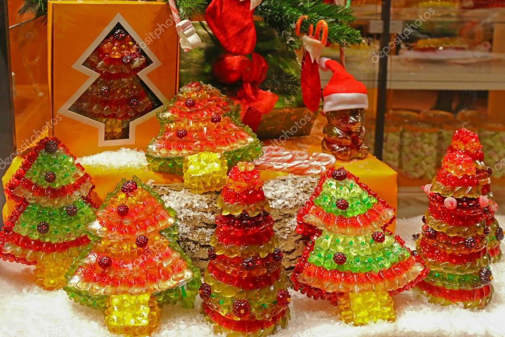 Gummy bears shaped to be different kinds of Christmas trees in ...