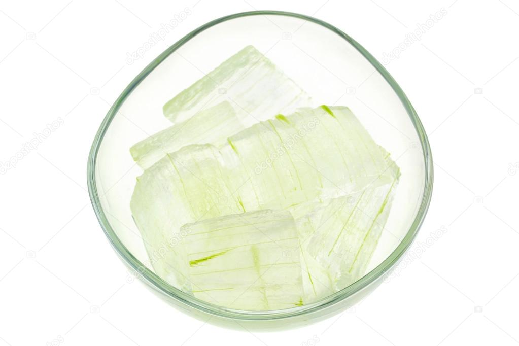 Aloe vera plant, peeled and cut into pieces