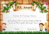 Photo Certificate template for PE award