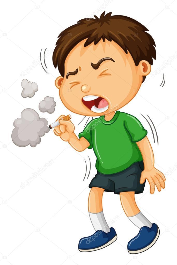 Chlapec kouření