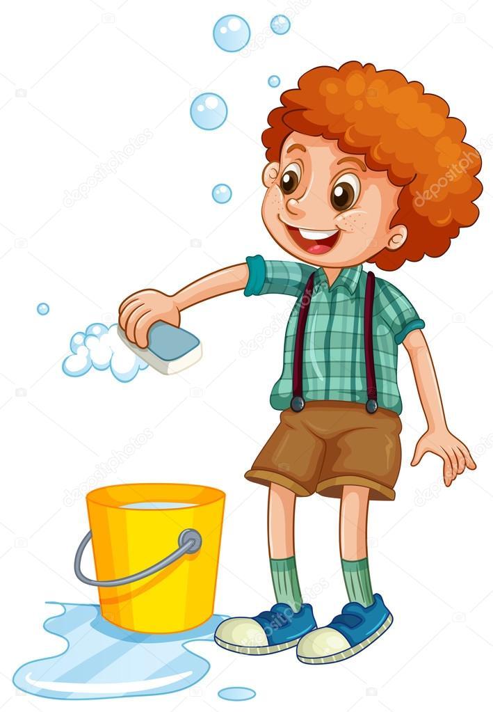 Afbeeldingsresultaat voor emmer en spons poetsen