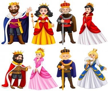 Different characters of king and queen