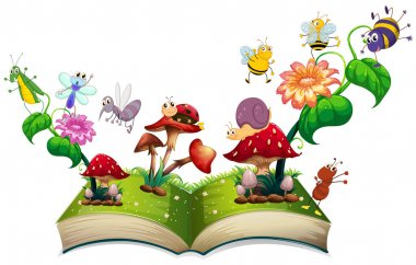 Book of insects in the garden