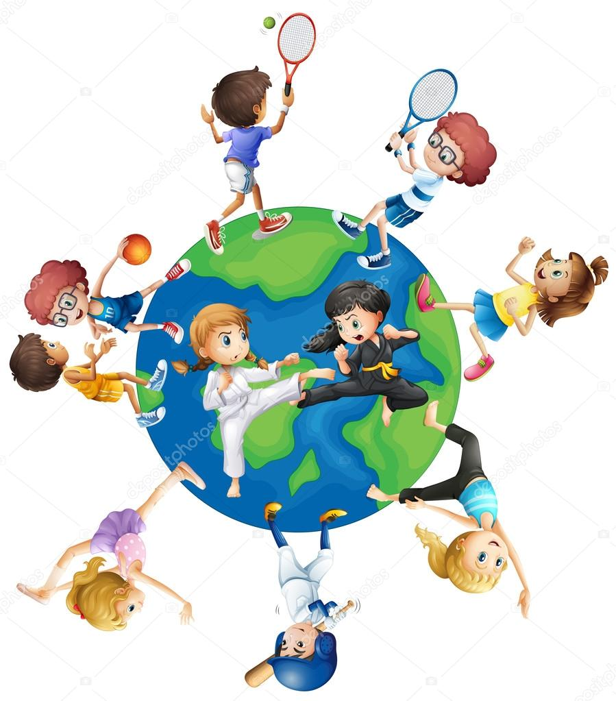 different kind of sports around the world u2014 stock vector