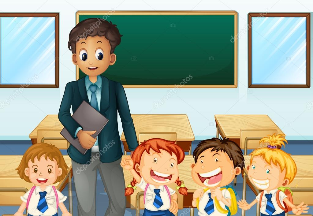 Öğretmen çizim vektörler | Öğretmen çizim vektör çizimler, vektörel grafik  | Depositphotos®