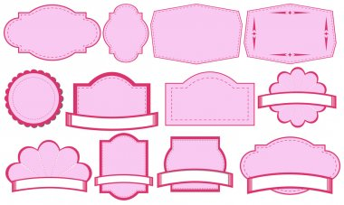 Empty pink label templates
