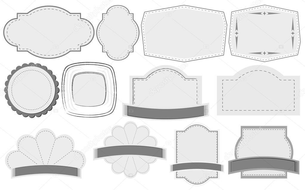 Vorlagen für leere Etiketten — Stockvektor © interactimages #51972083