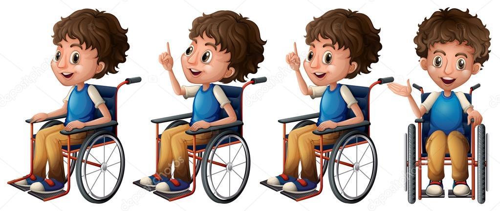 Ni o en silla de ruedas vector de stock interactimages 51972609 - Silla de ruedas ninos ...