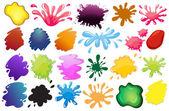 Malování inkoust šplouchání