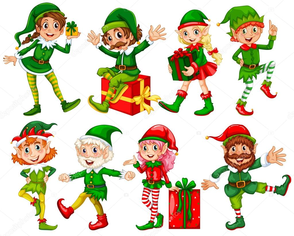 Elf and presents