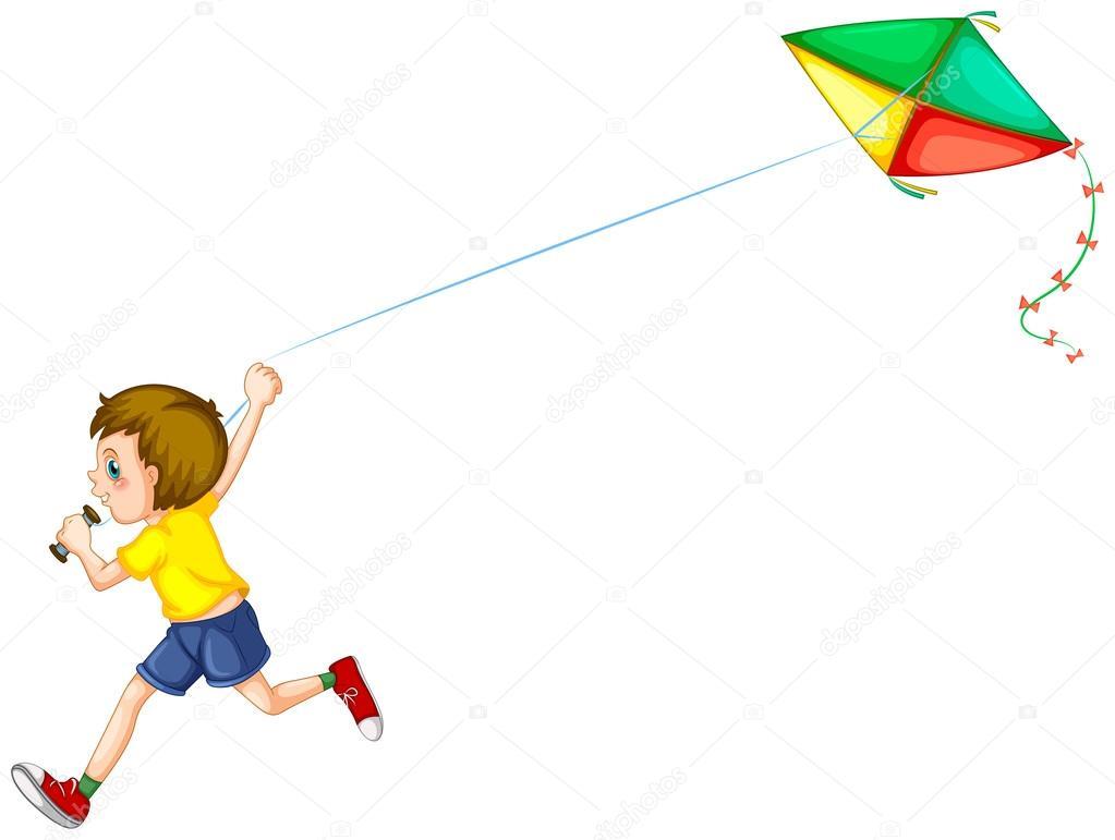 Suficiente menino e Pipa — Vetores de Stock © interactimages #55558159 TW09