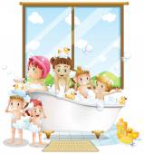 Fotografie Kinder und Bad