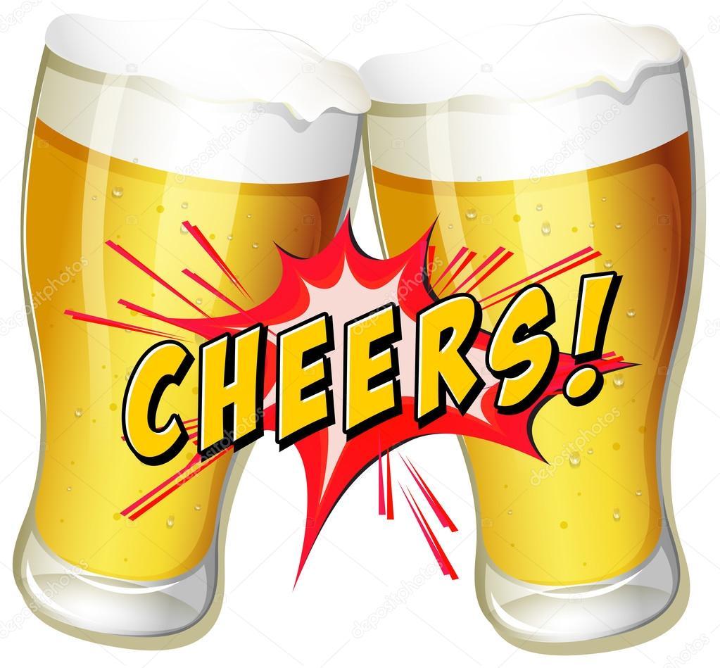 Cheers beers — Stock Vector © interactimages #57427421