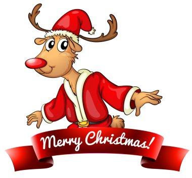 Christmas logo with deer
