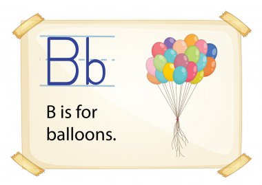 A letter B for balloons