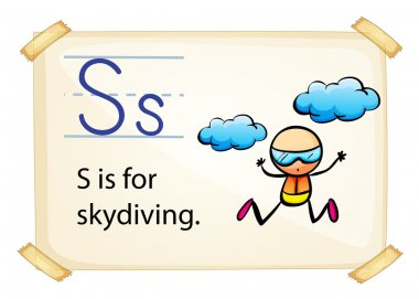 A letter S for skydiving