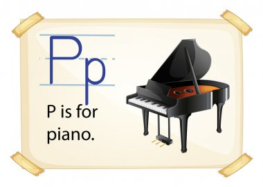 A letter P for piano