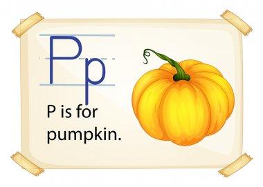 A letter P for pumpkin