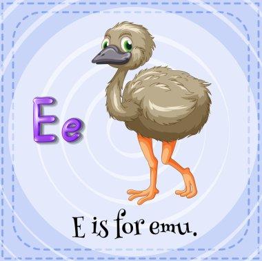 A letter E