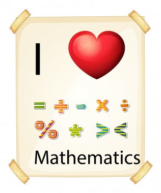 A poster showing the love of Mathematics