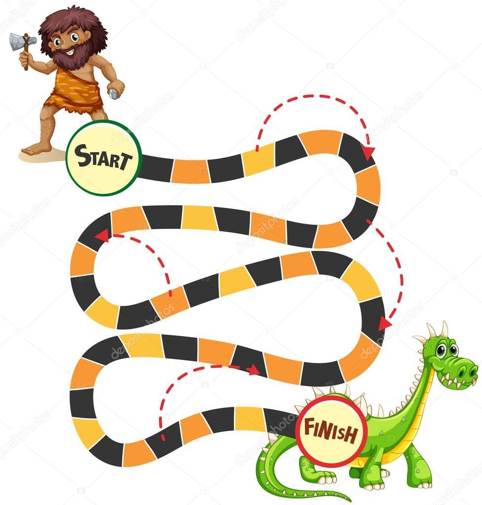 Brettspiel Vorlage — Stockvektor © interactimages #64728495