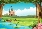 hrad a rybník