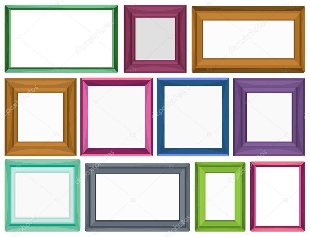 Different sizes for photo frames — Stock Vector © interactimages ...
