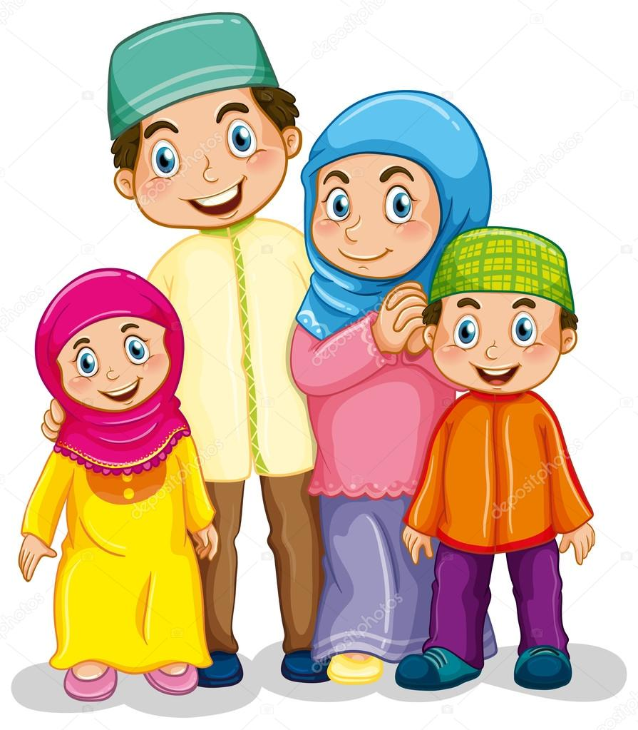10 Muslim family clipart Vector Images, Muslim family clipart ...