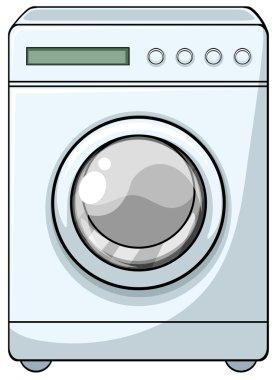 Washing machine with front door