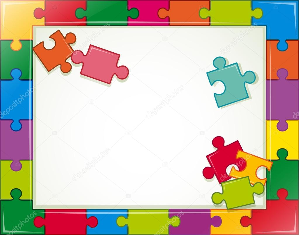 Puzzle-Rahmen — Stockvektor © interactimages #70361903